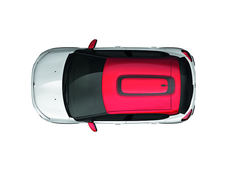 CITROEN Citroen C3 Roof box sticker in Grainy Black